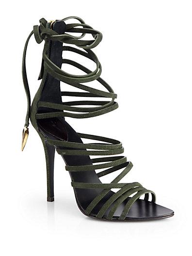 Giuseppe Zanotti - Leather Strappy Tie-Up Sandals - Saks.com