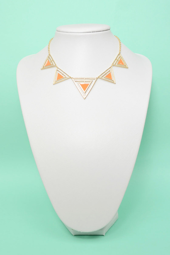 Womens Teigra Triangle Necklace and Earring Set | Pop Couture