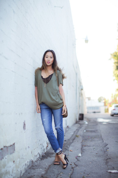 song of style jeans t-shirt blogger