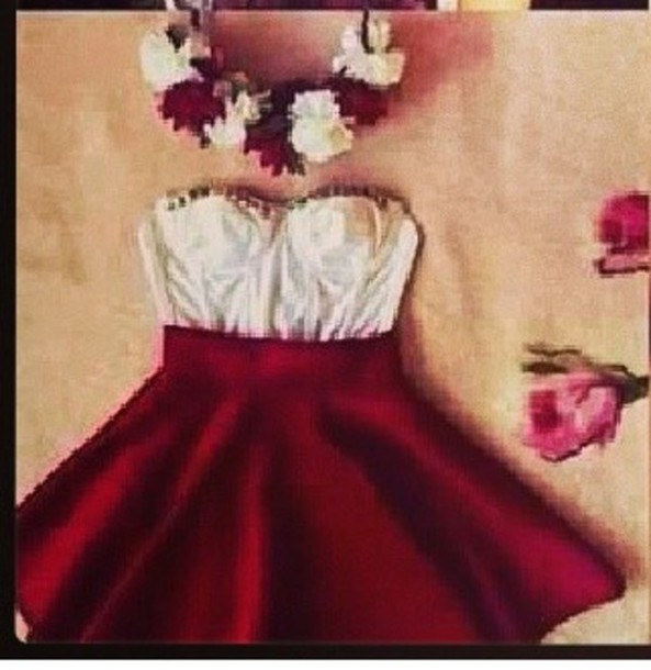 dress dress red strapless help