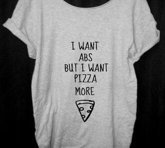 t-shirt shirt pizza pizza shirt abs