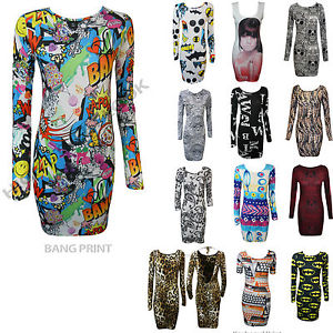 New Ladies Bang Galaxy Aztec Colors Print Bodycon Shape Full Sleeveless Dress to | eBay