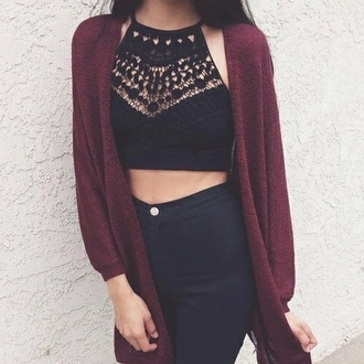 tank top crop tops black lace cut-out