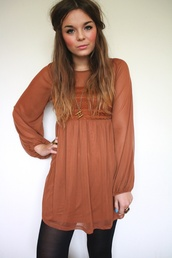 dress,fall outfits,orange,lace,chiffon,blouse,brown,rustic,long sleeves,casual