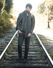 bobby raffin,blogger,cardigan,belt,menswear,hat,fall outfits,scarf,hipster,hipster menswear