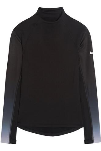 top mesh cotton black