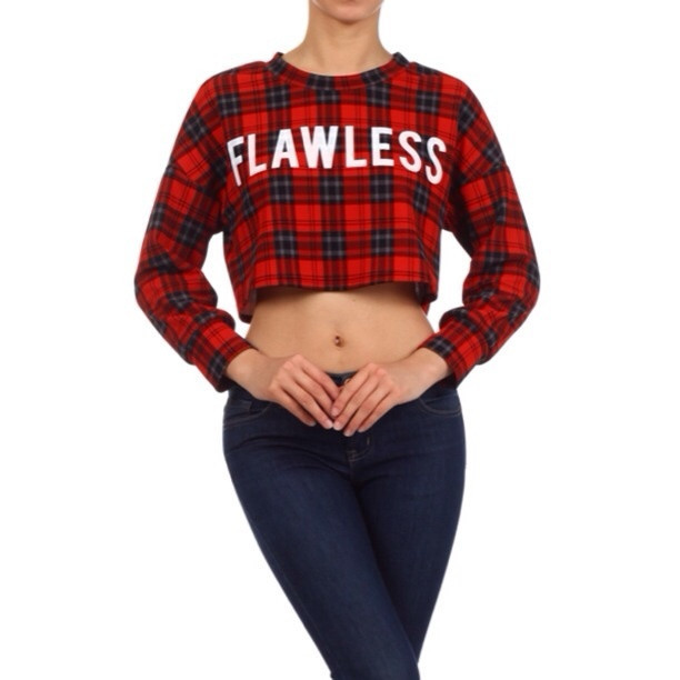 Flawless plaid crop top