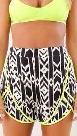 Geometric 80's Shorts