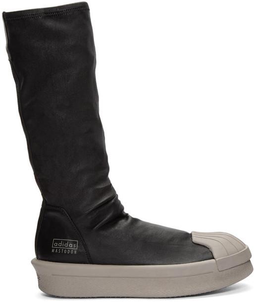 Rick Owens Black Adidas Edition Mastodon Stretch Boot High-top Sneakers