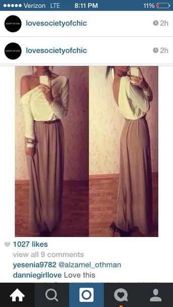 6225e50160106 top, skirt, maxi dress, maxi skirt, maxi open back dresses, white ...
