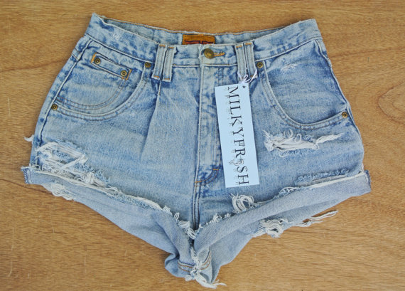 "High Waisted Shorts Size 8 Cutoffs Milky Fr3sh ""Elyse"" on Wanelo"