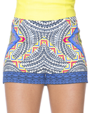 PIXEL PARTY High Waist Shorts in Blue – FLYJANE