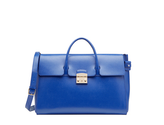 bag satchel bag furla blue bag
