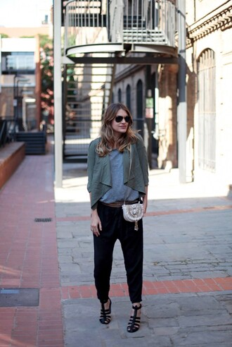 my daily style jacket belt shoes bag sunglasses