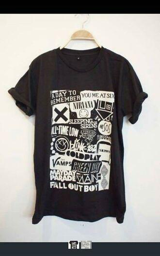 top band music t-shirt rock music