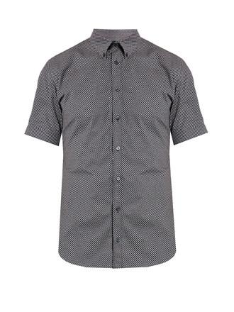 shirt skull short print top
