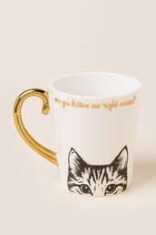home accessory,gold,mug,quote on it,quote on it mug,cats
