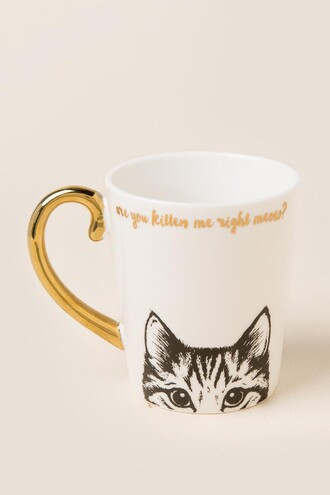home accessory gold mug quote on it quote on it mug cats