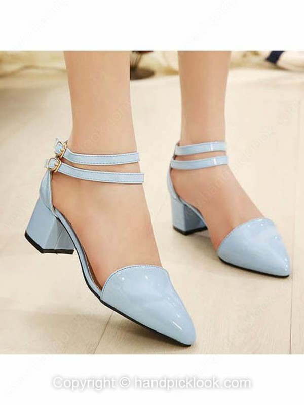 shoes blue heels sandals woman shoes chunky sandals