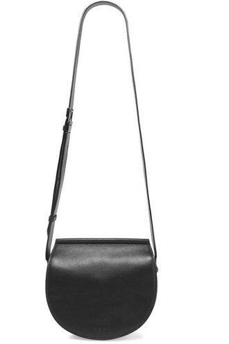 infinity bag shoulder bag leather black