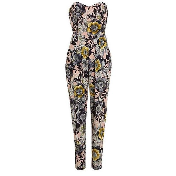 jumpsuit queen clothing uk floral floral jumpsuit nude holiday season