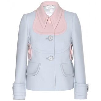jacket blazer wool miu miu