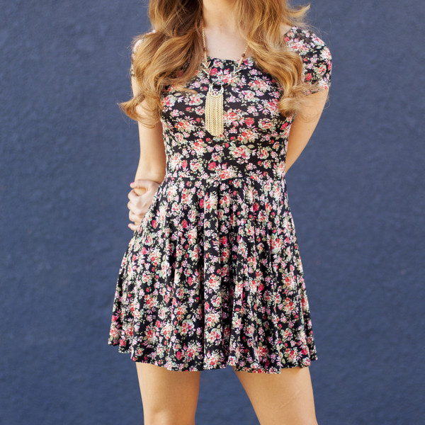 dress summer dress flora dresses floral dress