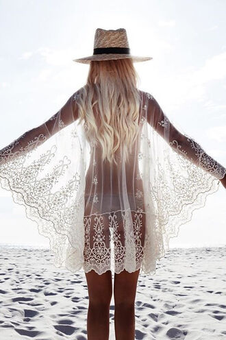 cardigan lace white fashion summer style girly beach tan bikiniluxe coat soha cover up beach clothing