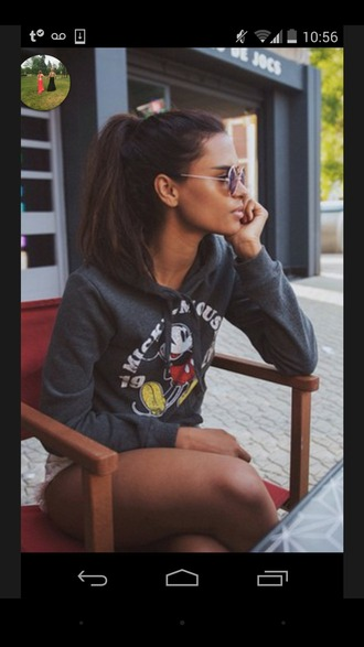 top grey sweater mickey mouse hoodies