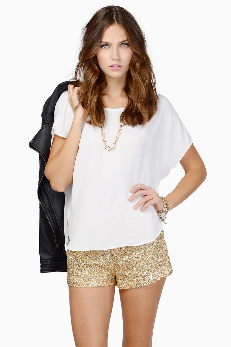 Diva Sequin Shorts $54
