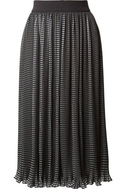 alice + olivia skirt midi skirt chiffon midi black