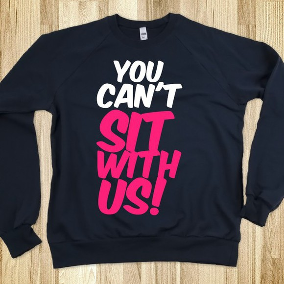 blouse movie mean girls long sleeves you cant sit with us pink white black fall outfits winter outfits cute caps lock love gretchen weiners i want this outfit i need it now