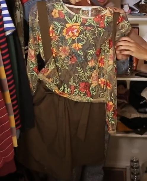 top sheer top floral lace daniella perkins shorts navy green shorts navy green overall shorts