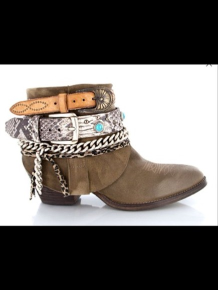 shoes ethnic shoes ethnic santiags brown leather boots leather jewelled shoes cool springsummer