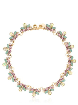 necklace gold purple jewels