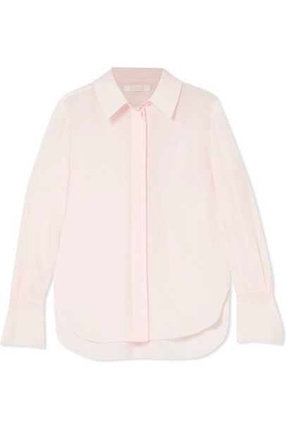 Chloe blouse silk pink top