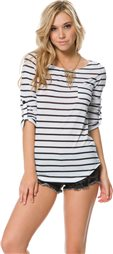 SWELL ATLANTIC STRIPED POCKET 3/4 SLEEVE TEE > Category | Swell.com