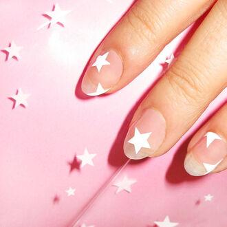 nail accessories stars nail art nail stickers july 4th negative space nail art