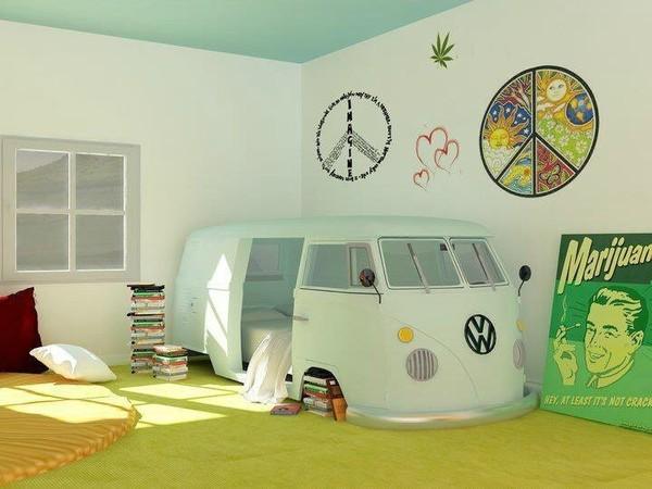 Volkswagen Bus Themed Bunk Bed Is The Grooviest Kiddie Bed