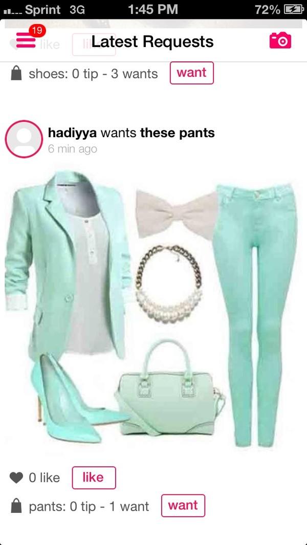 jacket turquoise blazer
