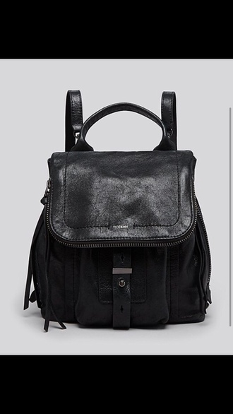 bag black leather backpack style casual leather backpack