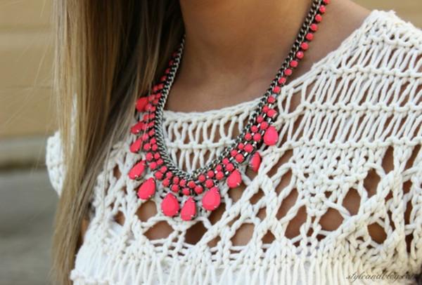 jewels necklace shirt
