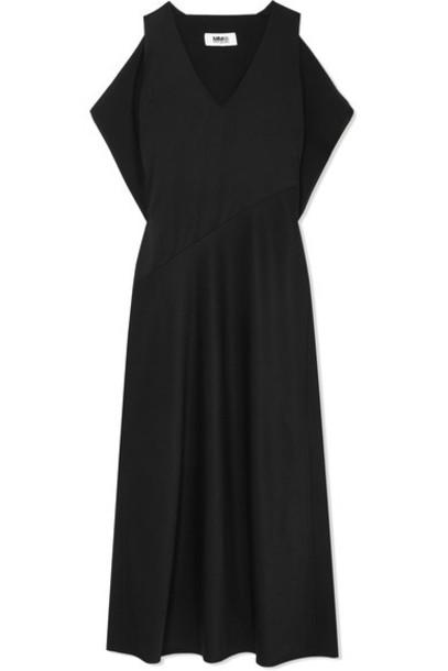 Mm6 Maison Margiela gown draped black dress