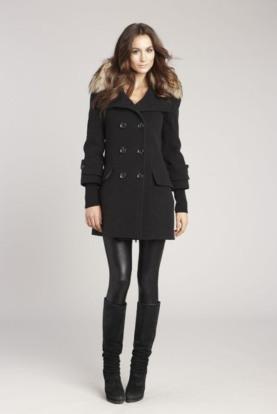 coat black coat peacoat long black coat long peacoat