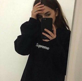 sweater supreme black oversized sweater black sweater