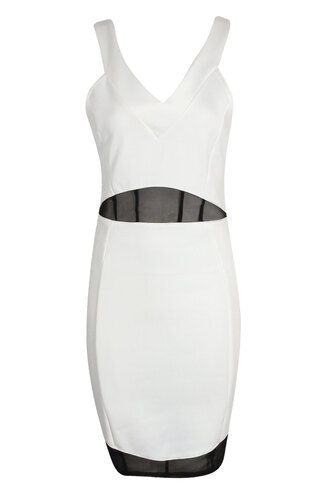 dress clothes white black black and white bodycon dress cross back