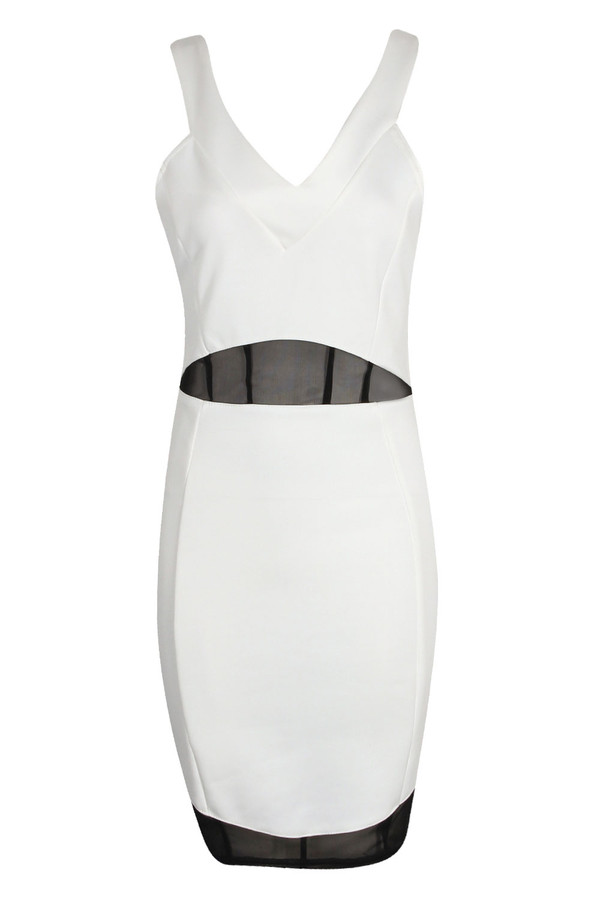 dress black and white bodycon cross back clothes white black