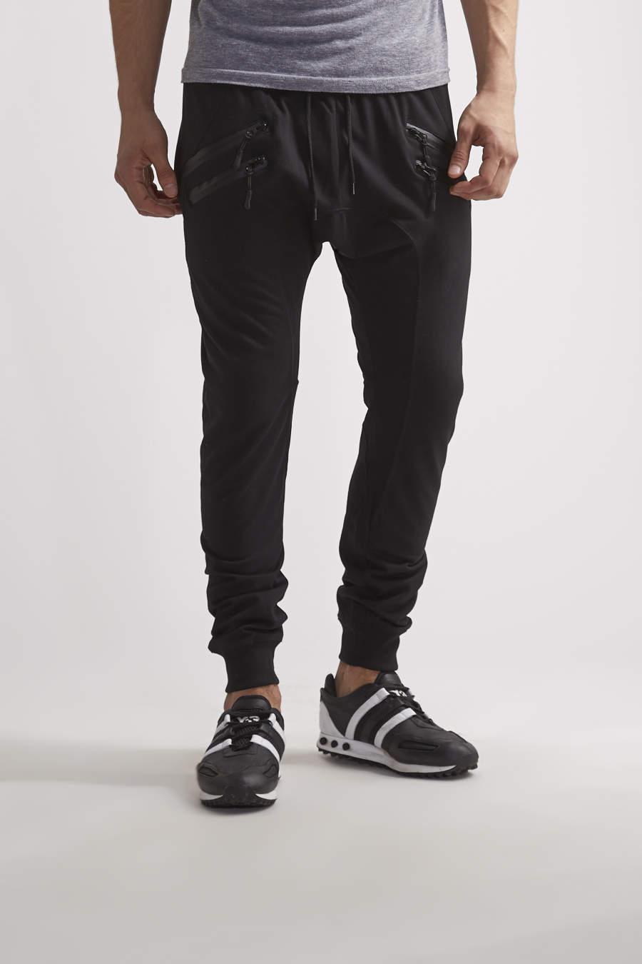 Double zipper jogger
