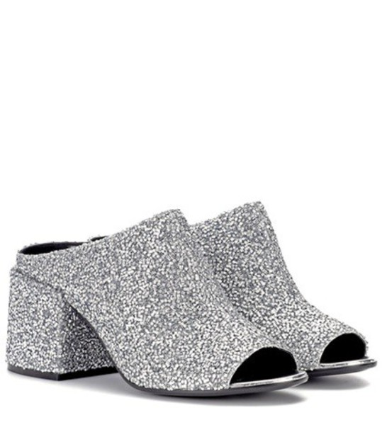 Mm6 Maison Margiela embellished sandals embellished sandals silver shoes