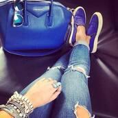 royal blue,slip on shoes,plimsolls,shoes,bag